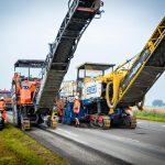 WEMAC ingeschakeld voor frees- en asfaltwerk op N46 Groningen-Delfzijl